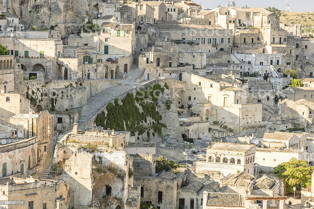 Detail view of Matera Rocks stock photo