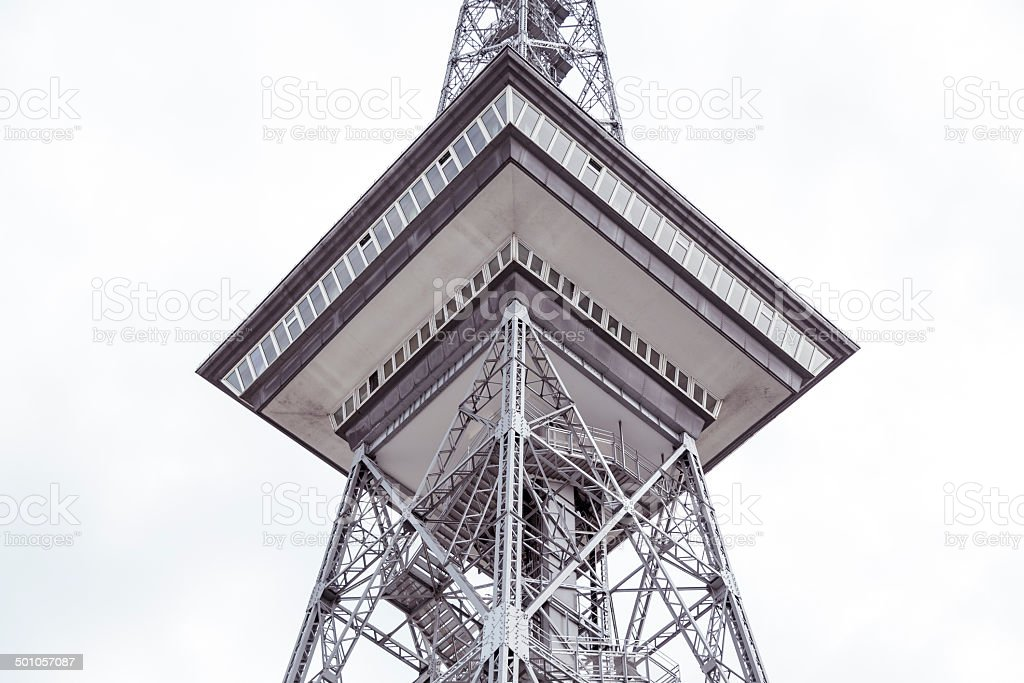 detail view of the funkturm, berlin germany stock photo