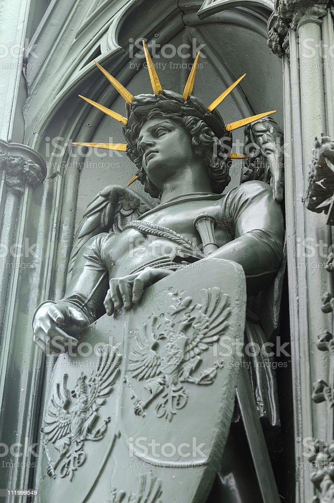 Detail vom Nationaldenkmal im Viktoriapark Kreuzberg (Berlin) royalty-free stock photo