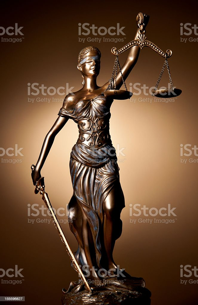 A detailed bronze statue of Thermis royalty-free stock photo