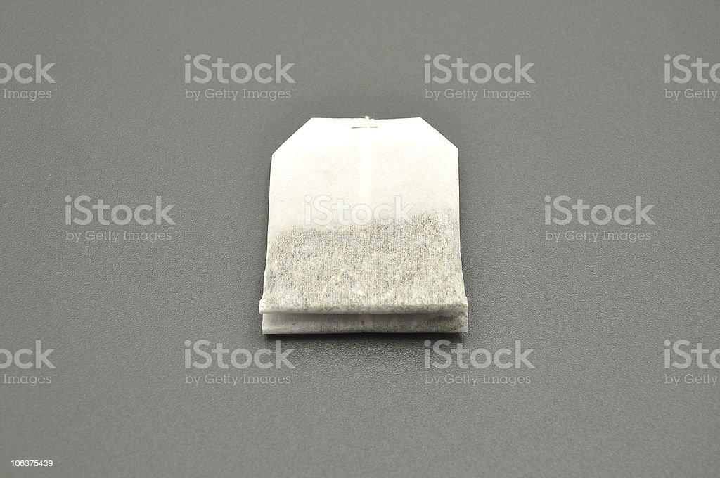 Detailed but simple image of tea bag royalty-free stock photo