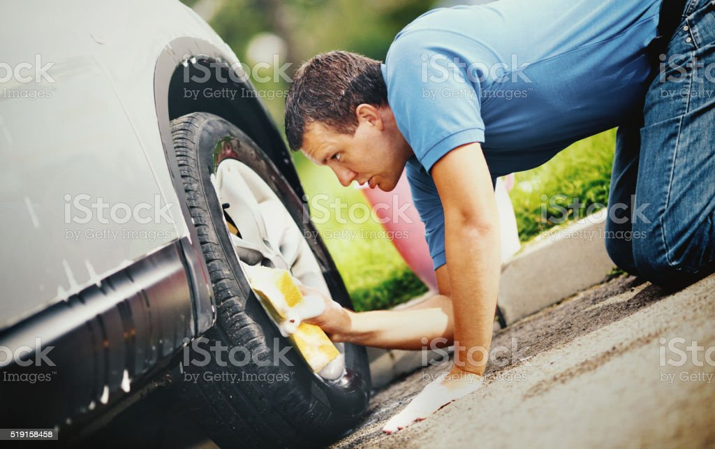 Detailed car wash. stock photo