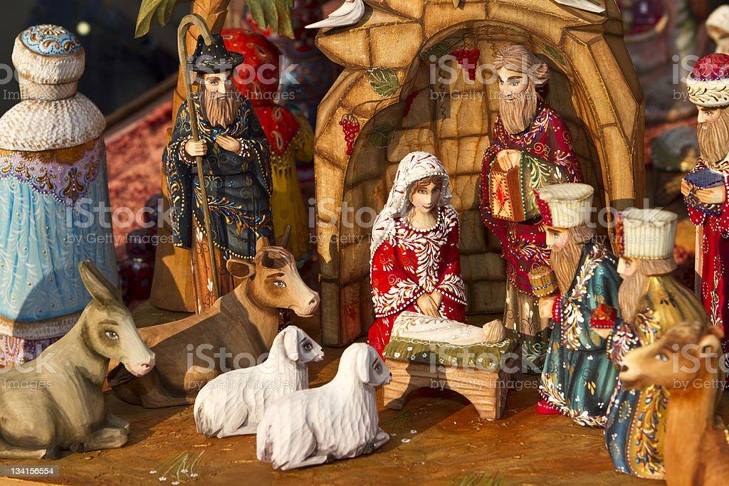 Detailed Christmas nativity set royalty-free stock photo