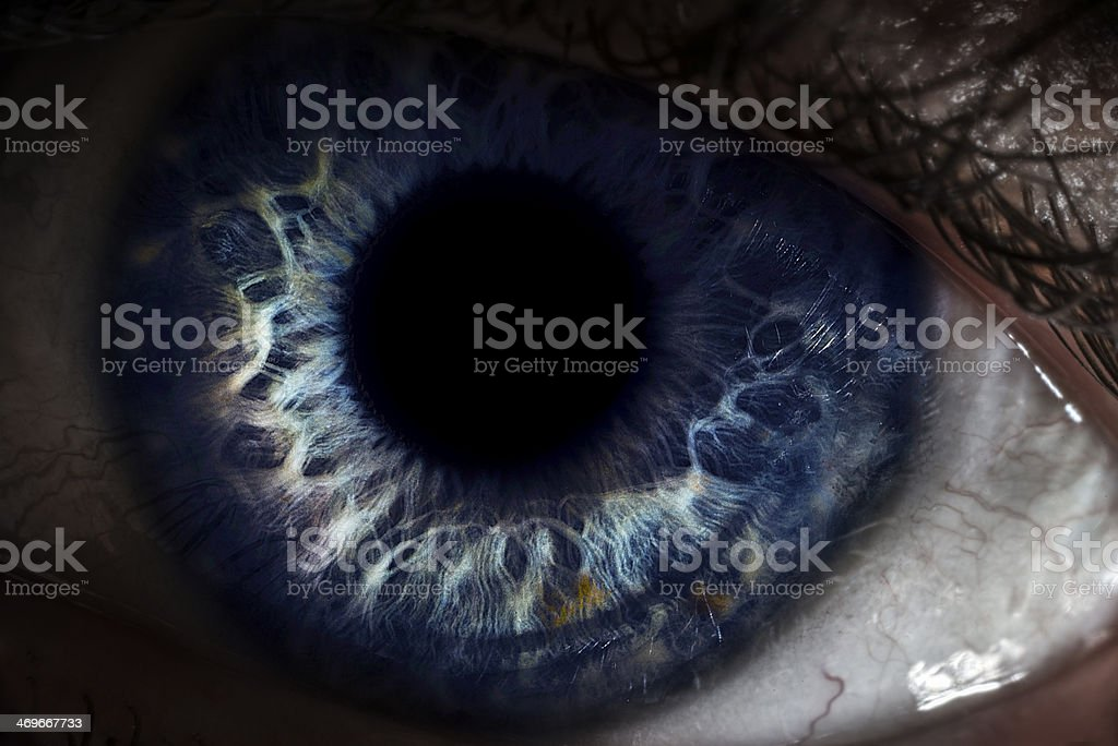 detailed close-up of eye stock photo