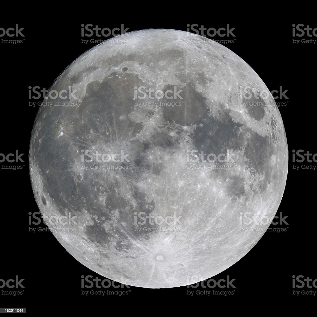 Detailed Full Moon royalty-free stock photo