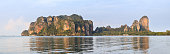 Detailed huge panoramic view of the peninsula of Railay