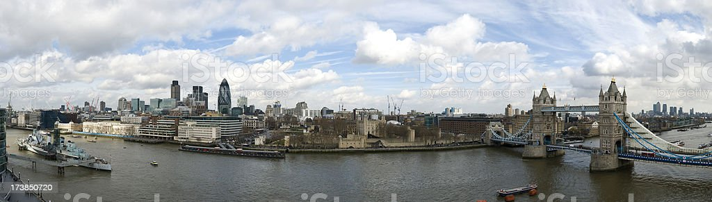 Detailed London Panorama royalty-free stock photo