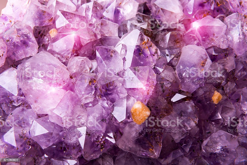 Detailed natural amethyst stock photo