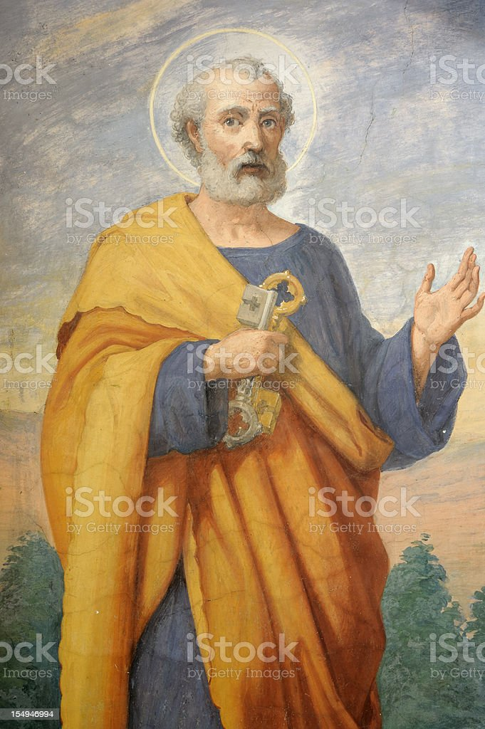 Detailed painting of Saint Peter royalty-free stock photo