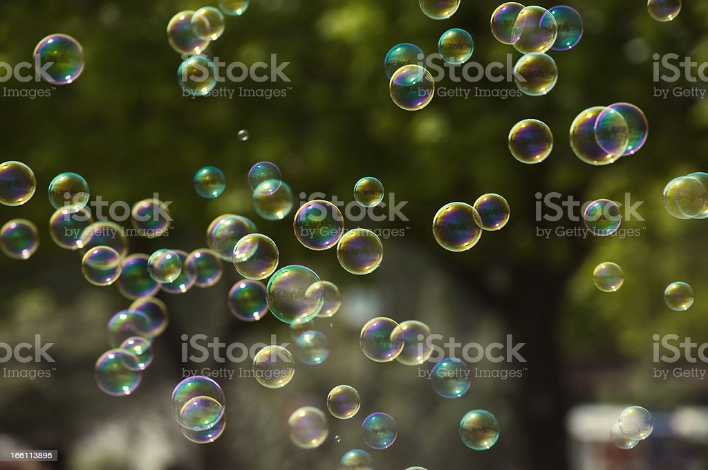 Detailed photo of tons of bubbles outside royalty-free stock photo