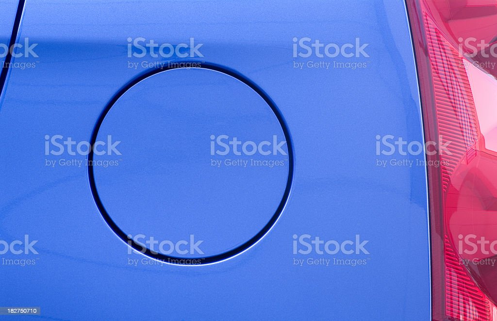 Detailed Picture of a Blue Car royalty-free stock photo