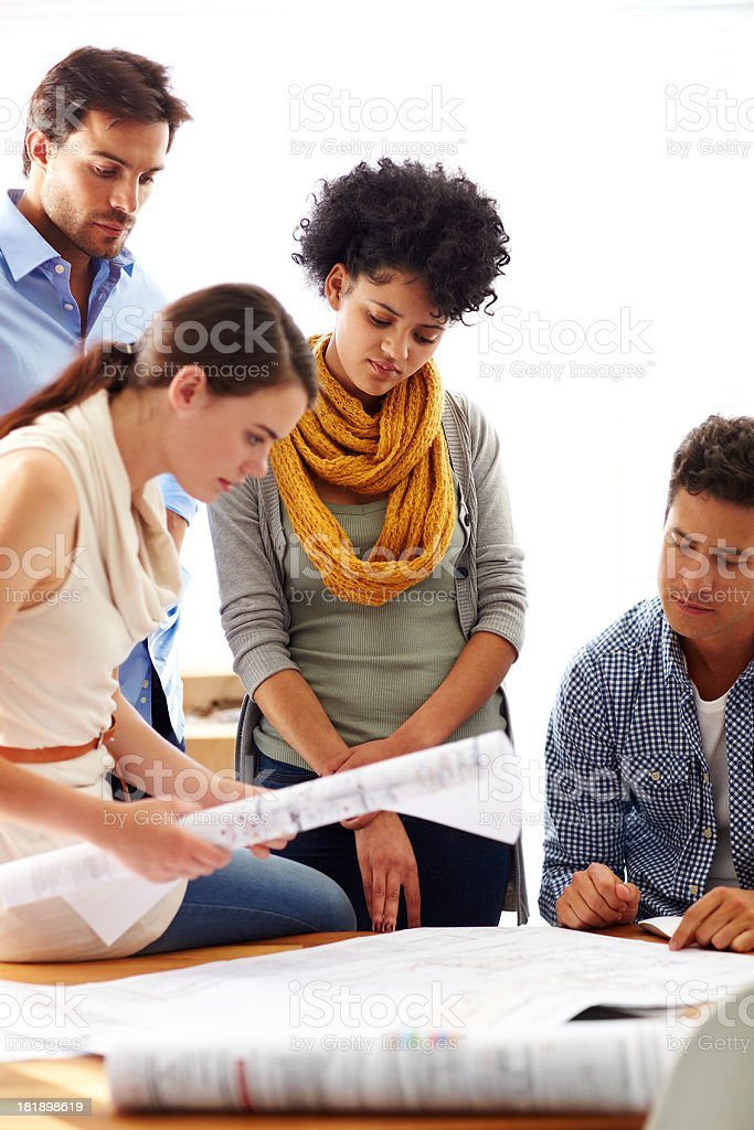 Detailed planning royalty-free stock photo