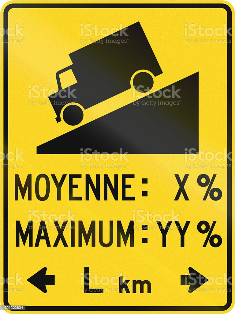 Detailed Steep Grade in Canada stock photo