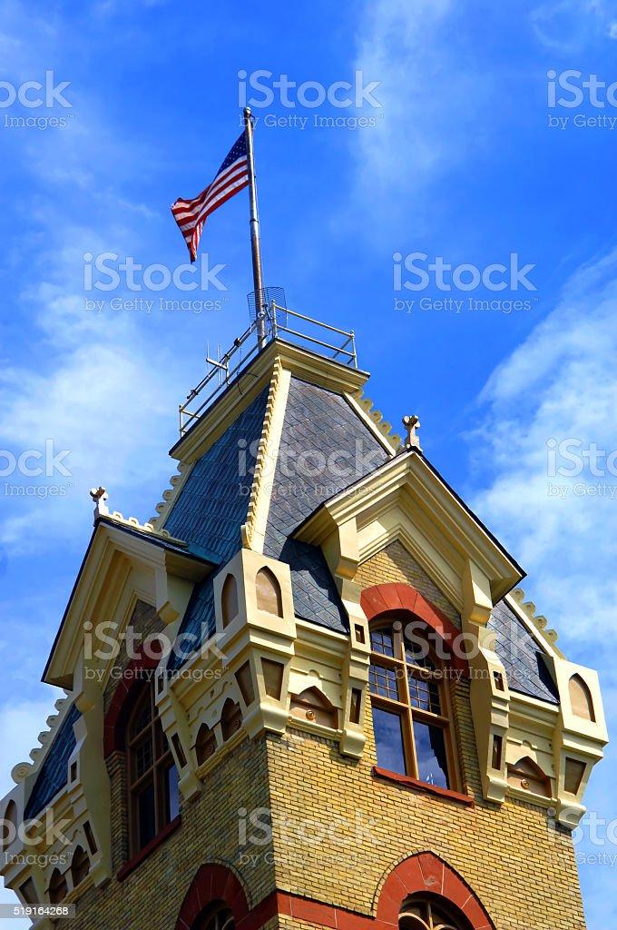 Detailed Victorian Era Courthouse stock photo