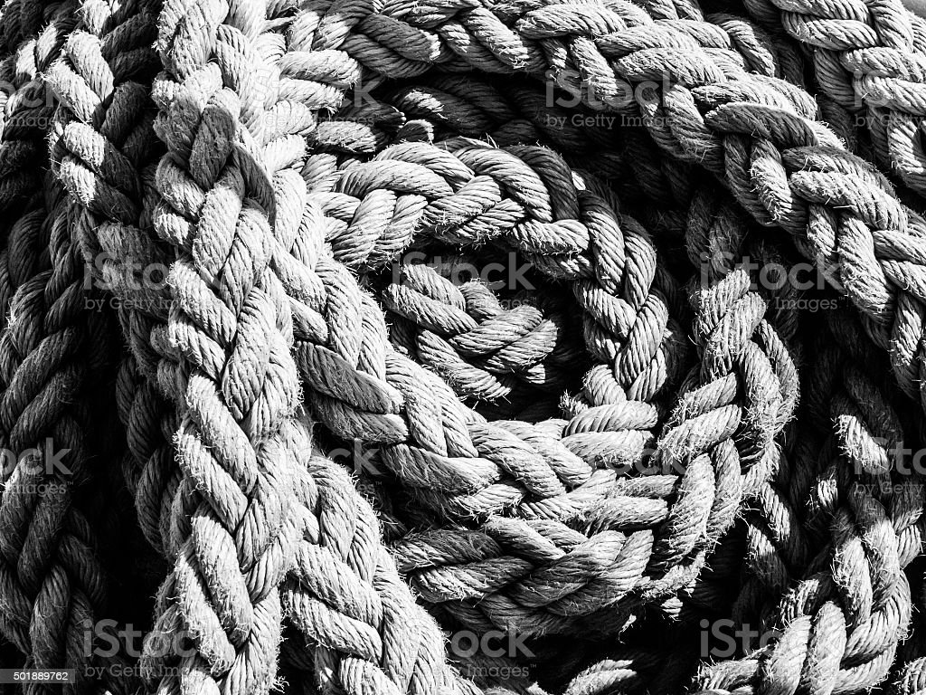 Detailed view of rope ball stock photo