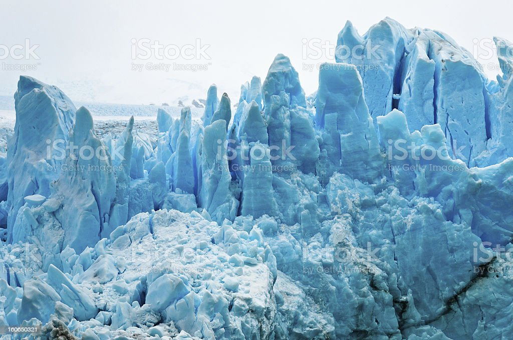 Detailed View of the Perito Moreno Glacier. Patagonia (Argentina) royalty-free stock photo