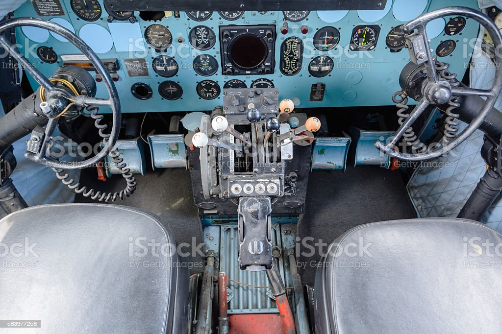 Detailed view of torpedo room in submarine. stock photo