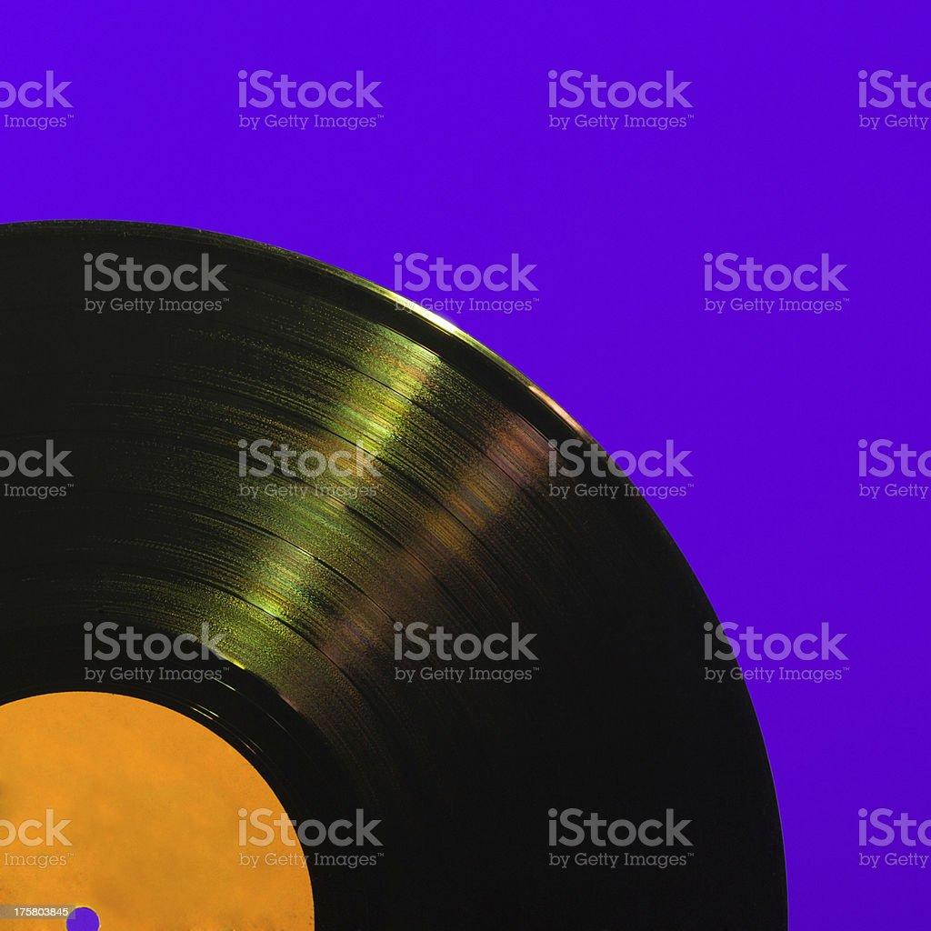 Detailed vinyl LP close up background stock photo