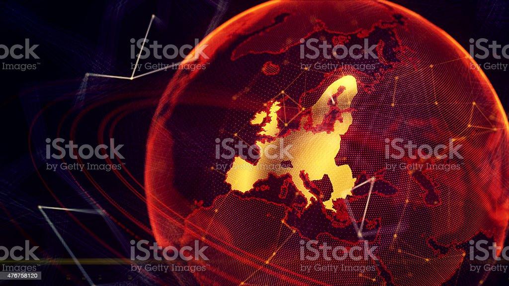detailed virtual planet Earth stock photo