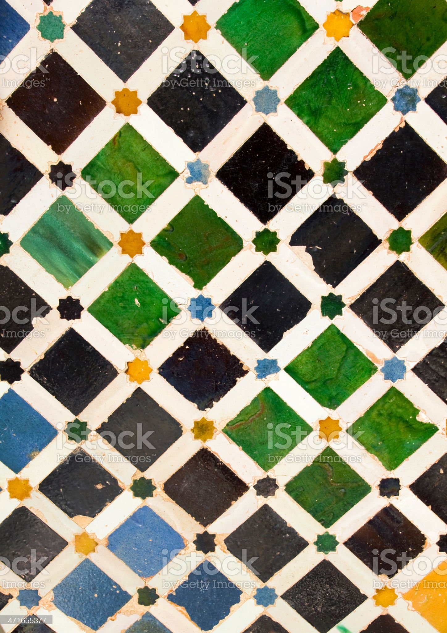Details Alhambra courtyard royalty-free stock photo