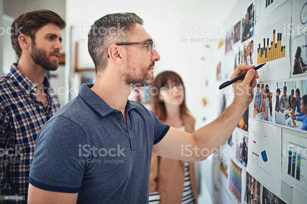 Details create the big picture stock photo