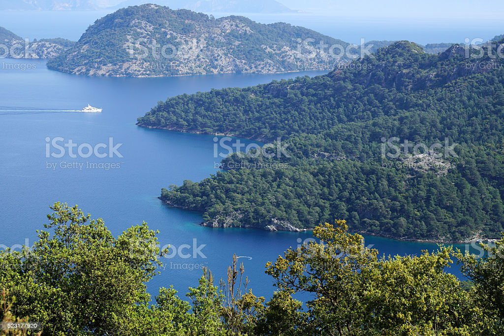 Details from the bay of Göcek stock photo