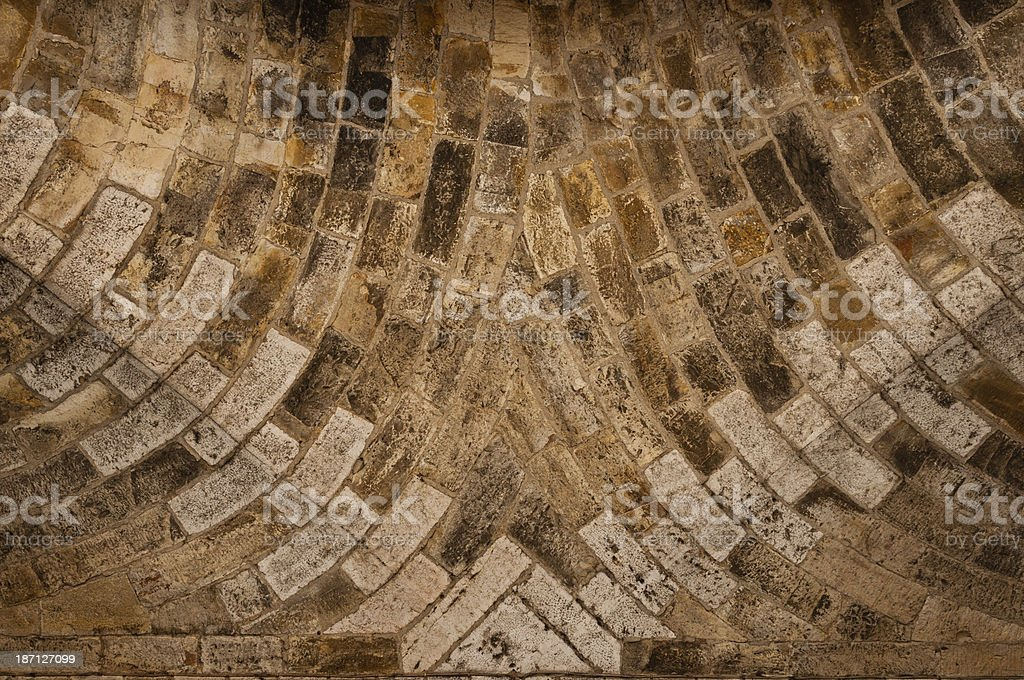 Details from the passage of an old city gate royalty-free stock photo