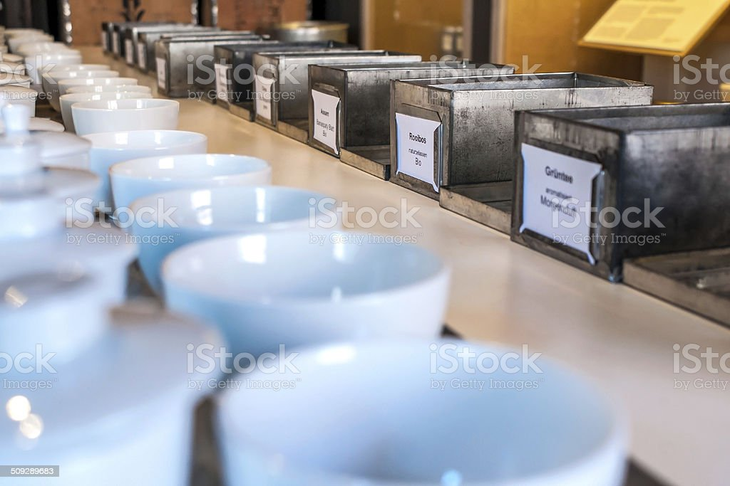 Details in the tea trade business stock photo