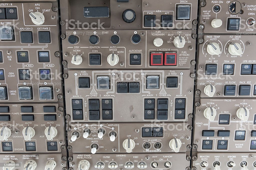 details of a cockpit royalty-free stock photo