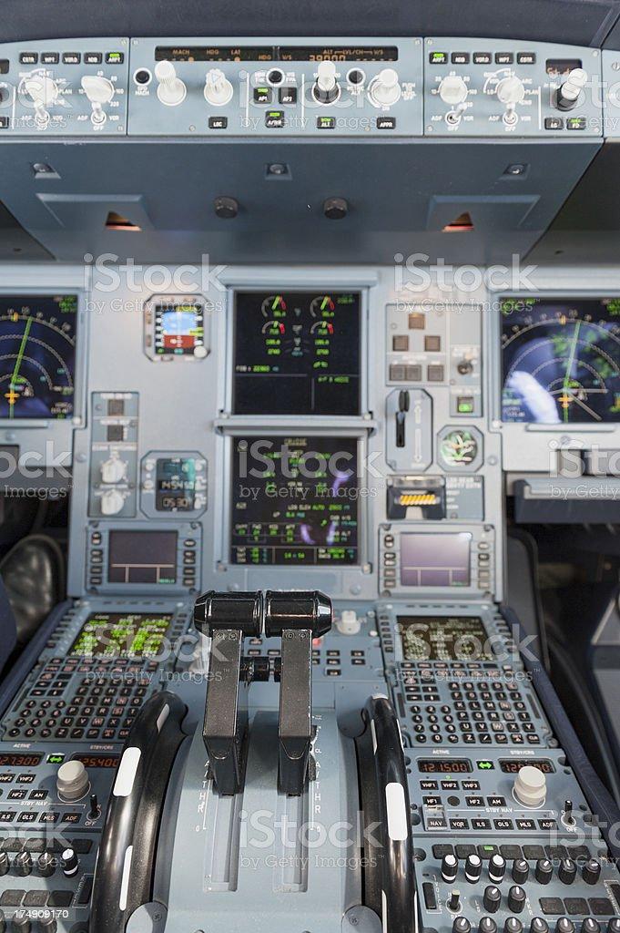 details of a cockpit stock photo