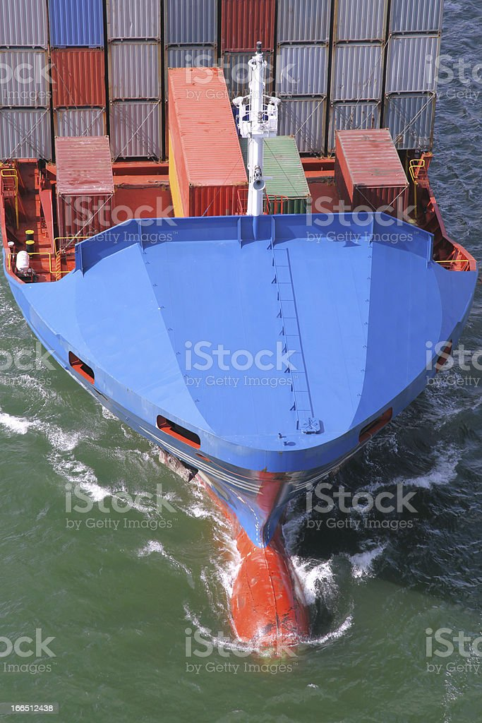 details of a container ship royalty-free stock photo