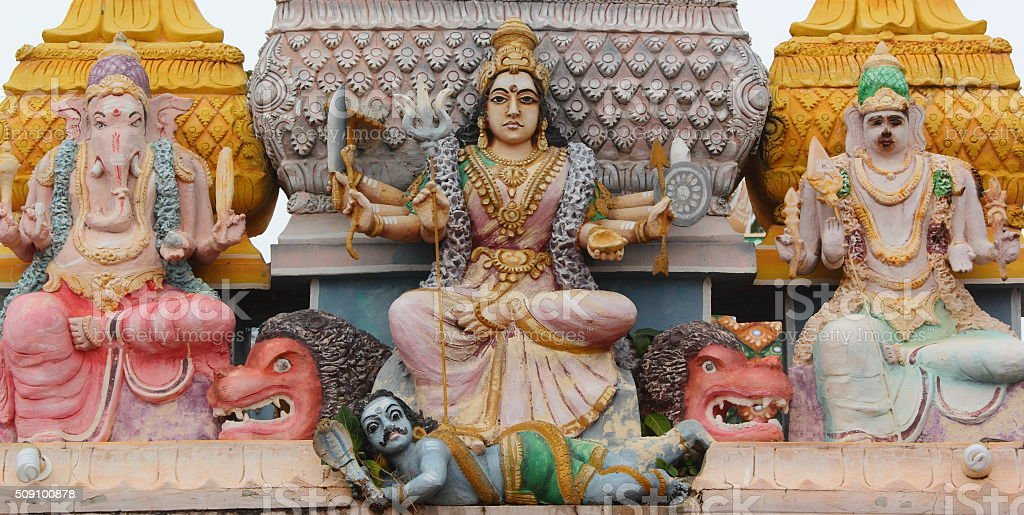 Details of a hindu temple stock photo