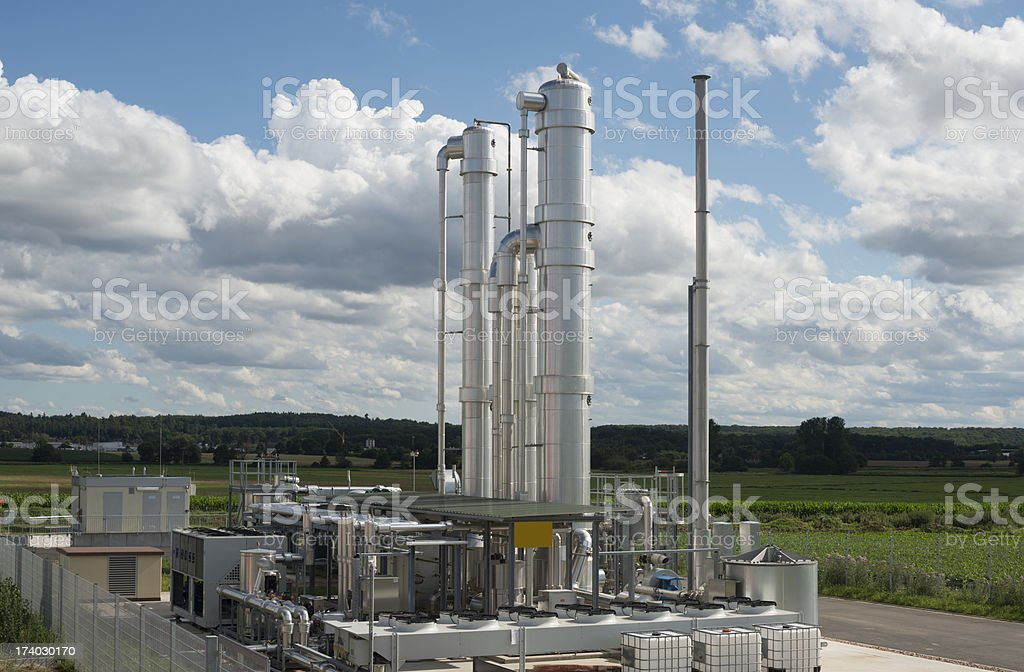 Details of a modern Biomass Plant in Germany stock photo