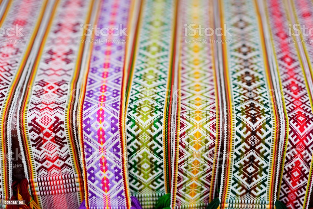 Details of a traditional Lithuanian weave stock photo