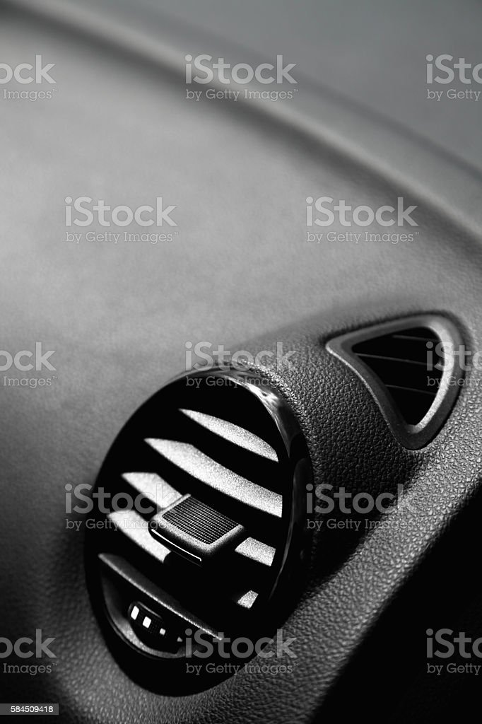 Details of air conditioning in modern car stock photo