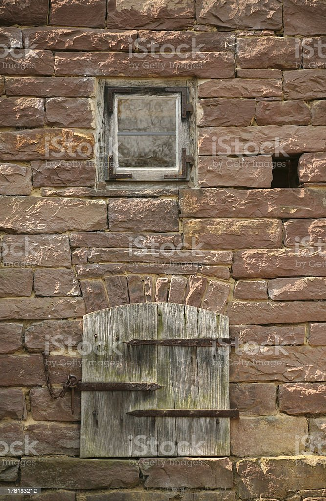 Details of an old house stock photo