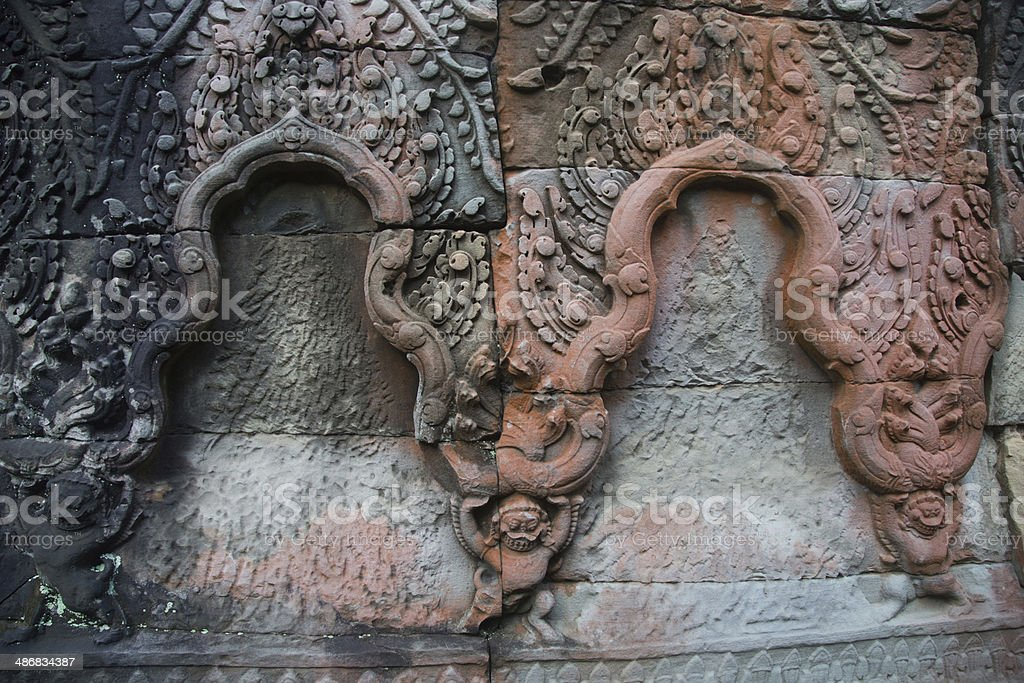 Details of Angkor royalty-free stock photo
