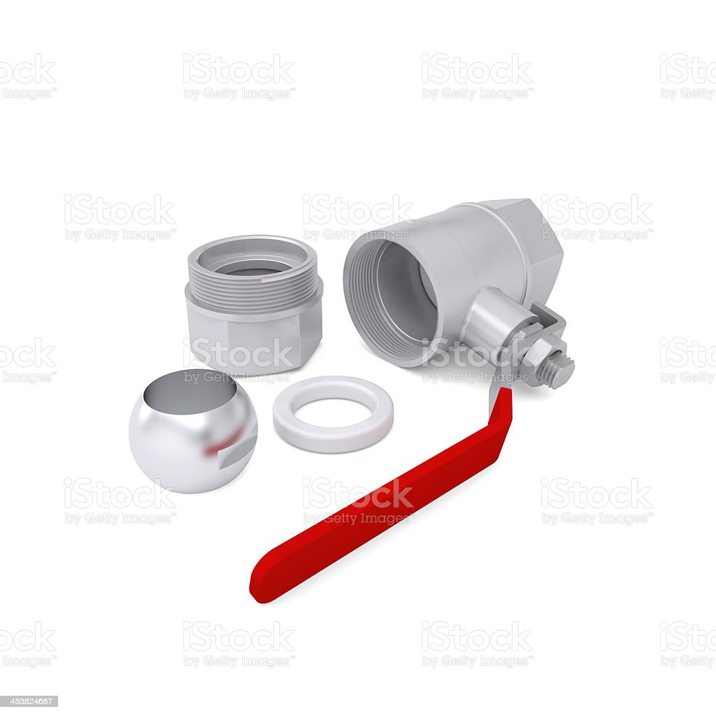 Details of ball valve stock photo