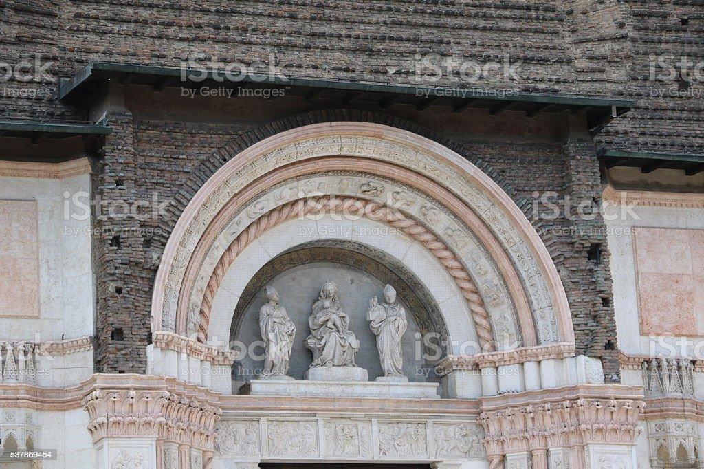 Details of Basilica of San Petronio, Piazza Maggiore Bologna Italy stock photo