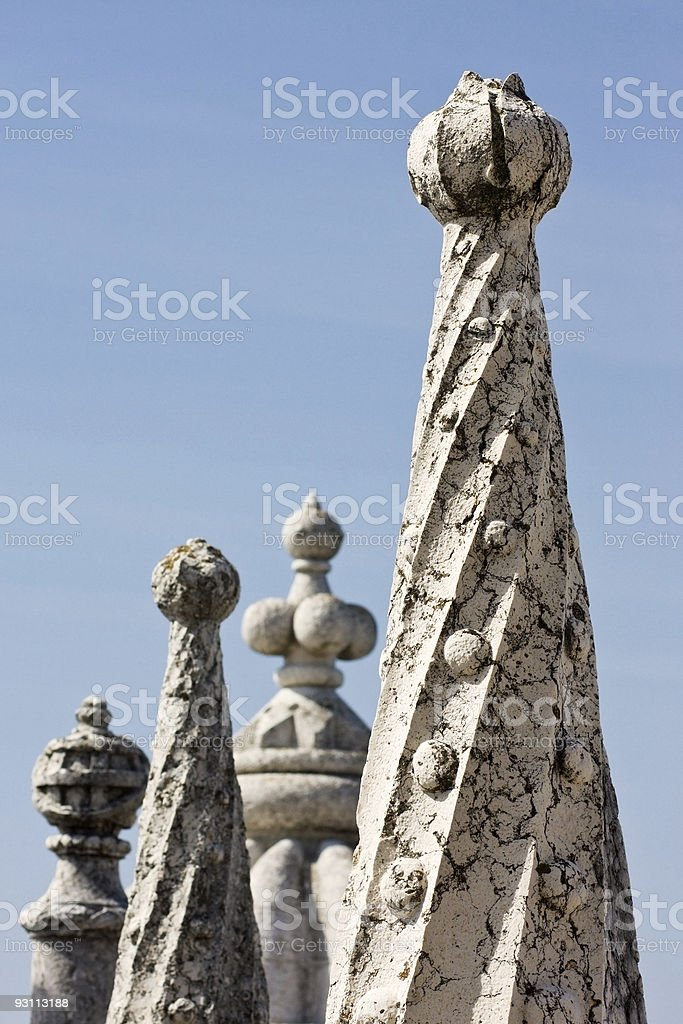 Details of Belem Tower royalty-free stock photo