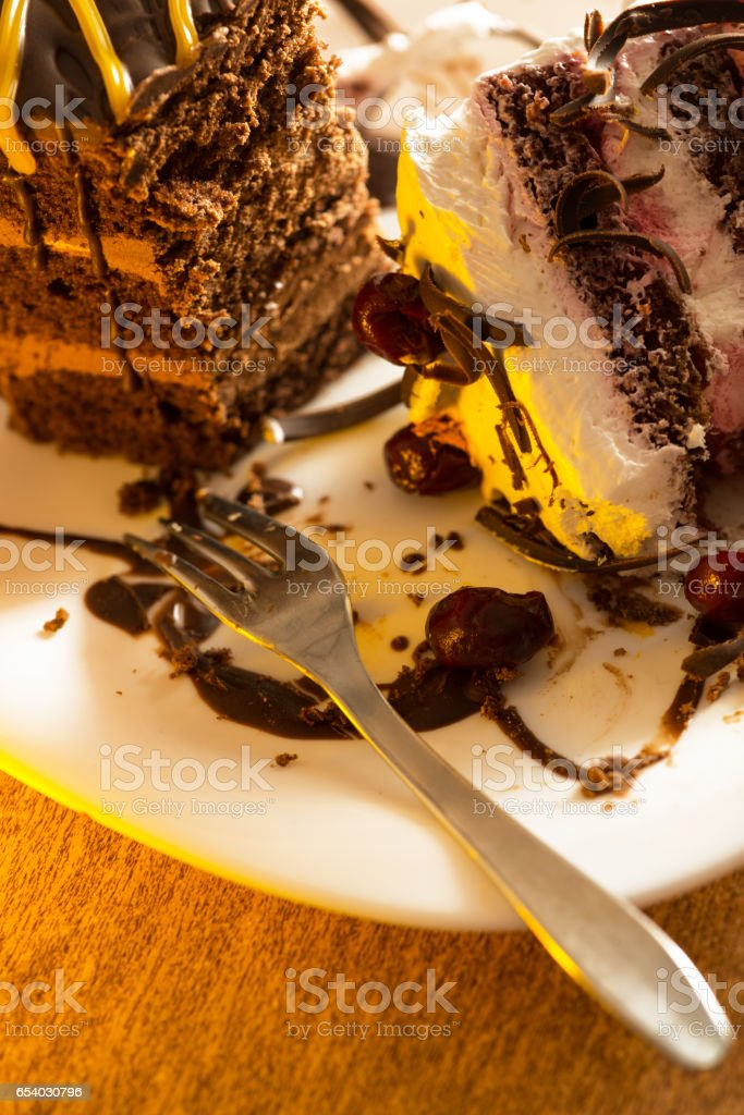 Details of cake stock photo