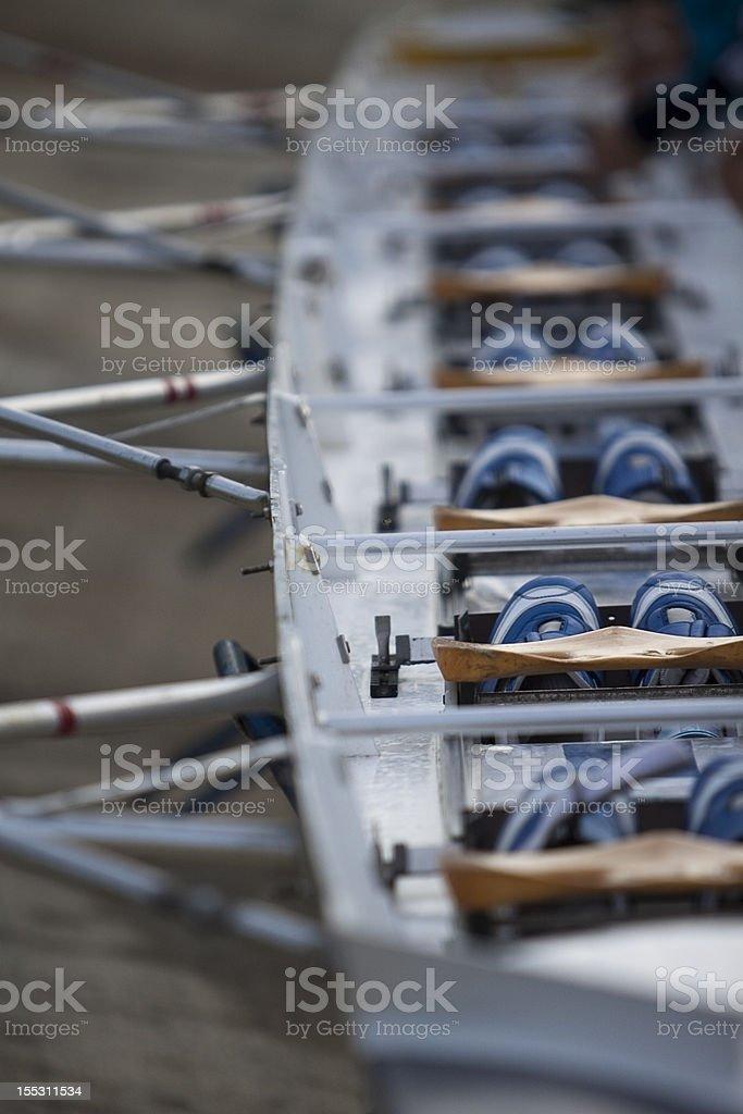 Details of canoe stock photo