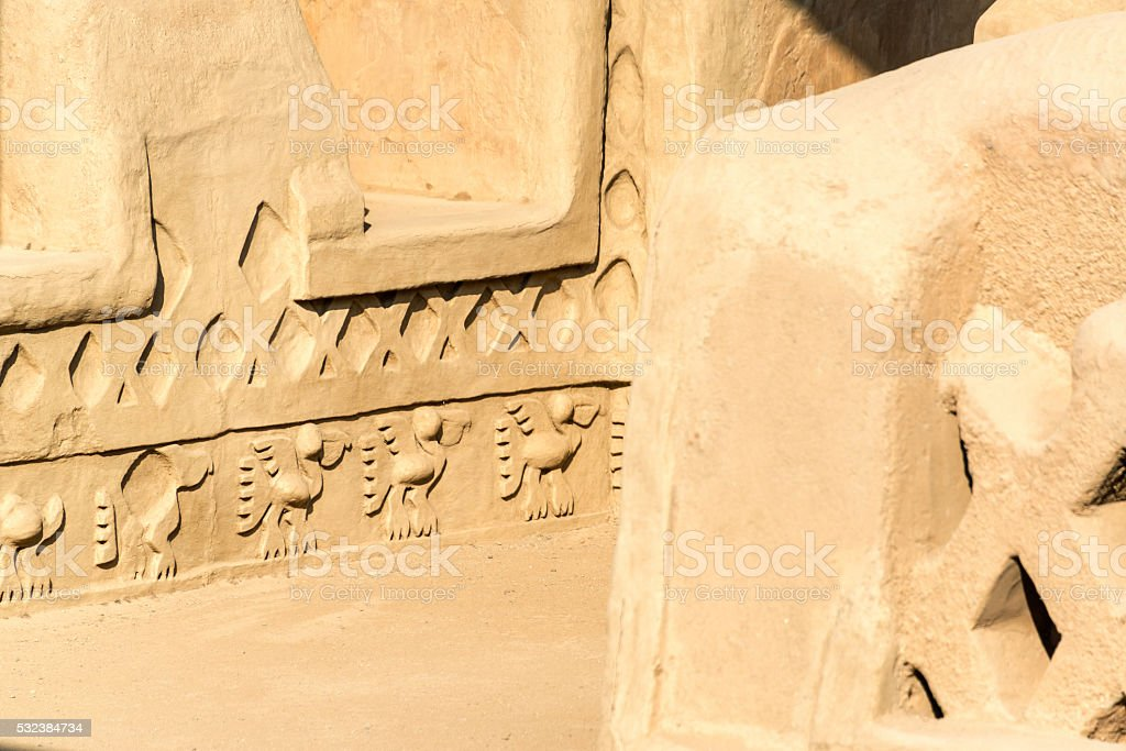 Details of Chan Chan stock photo