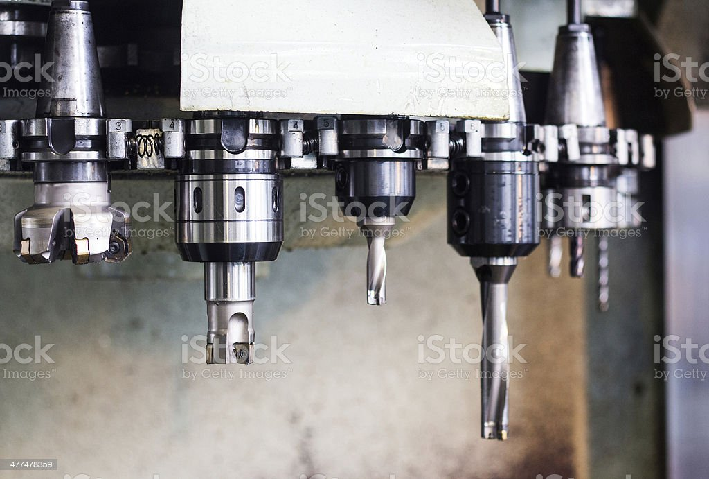 Details of CNC machine tools stock photo
