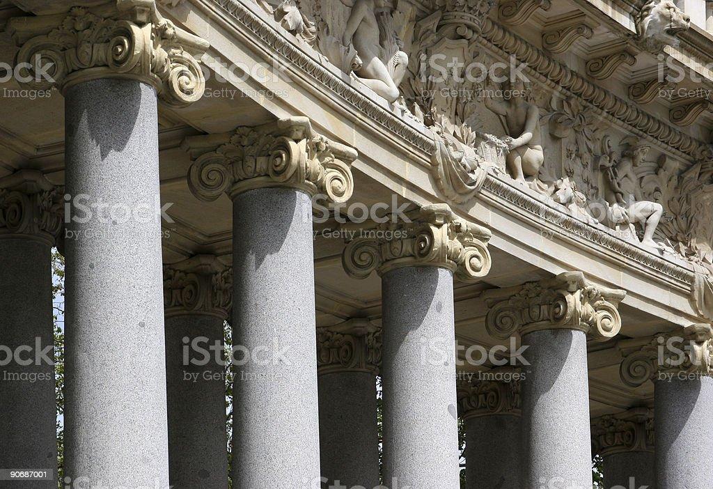 Details of corinthian columns royalty-free stock photo