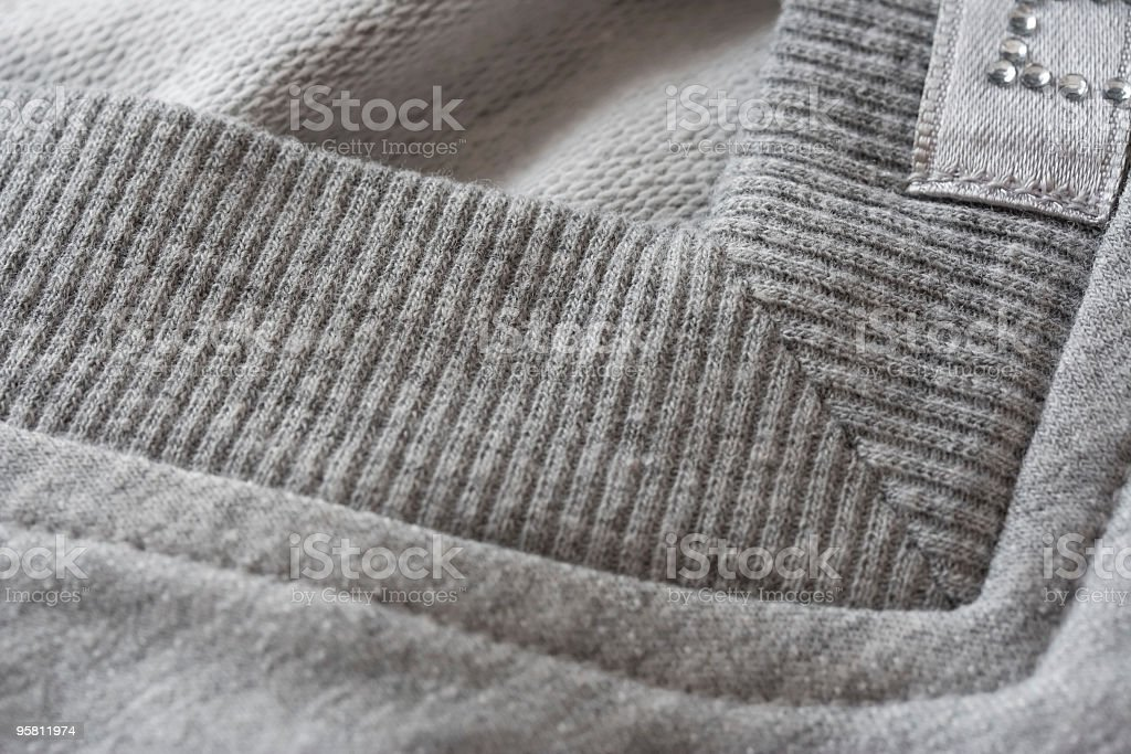 details of fabric jacket close-up royalty-free stock photo