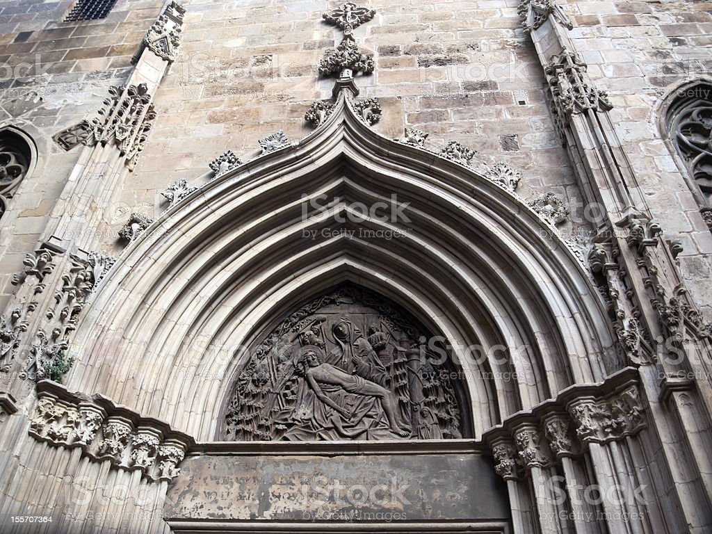 Details of facade. Santa Maria del Mar stock photo