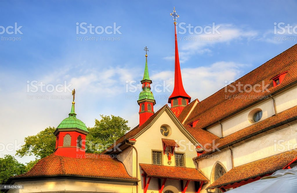 Details of Franciscan church in Lucerne - Switzerland stock photo