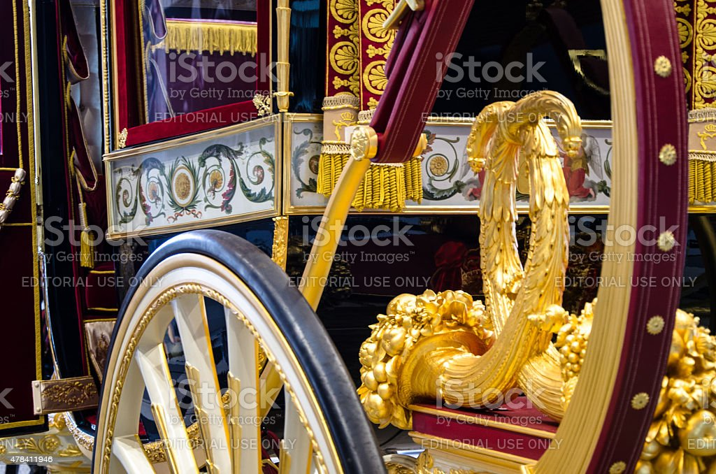 Details of Golden Carriage Queensday stock photo