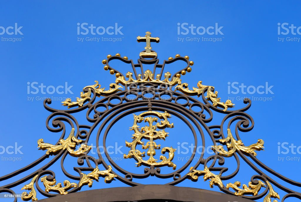 Details of golden gate. stock photo